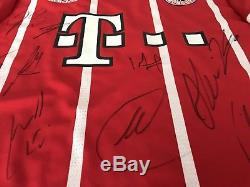 17-18 Bayern Munich Team Hand Signed jersey Original HandSigniert Trikot