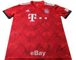 18/19 Bayern Munich Signed Shirt Jersey Muller Kimmich Neuer + Certificate