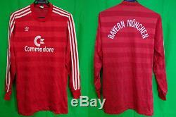 1984-1986 FC Bayern Munchen Munich Jersey Shirt Trikot Commodore Vintage L L/S