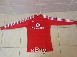 1984-1986 FC Bayern Munchen Munich Jersey Shirt Trikot Commodore Vintage size s
