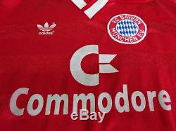 1987-1988 FC Bayern Munchen Munich Jersey Shirt Trikot Commodore Vintage S L/S