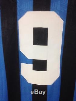 1991-92 Inter Milan Klinsmann #9 Home Jersey Size XL (Bayern Munich, Tottham)