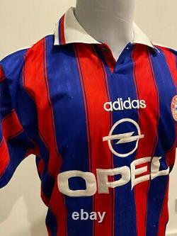 1995-96 Vintage Bayern Munich Klinsmann #18 Jersey Adidas OPEL Large