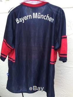 1998-1999 Adidas Bayern Munchen Munich Home Opel Men's Jersey Sz M