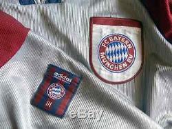1998 / 1999 Bayern Munich CL Shirt Jersey Spieltrikot #3 Bixente Lizarazu