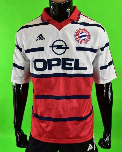 1998-2000 Adidas Bayern München Munich Fcb Munchen Away Shirt Size L (adults)