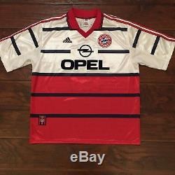 1998/99 Bayern Munich Away Jersey #24 Ali Daei Iran Football Soccer Adidas Used
