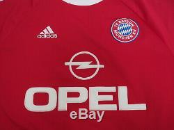 2001-2002 Bayern Munchen Munich Jersey Shirt Trikot Home Adidas OPEL CL UCL M