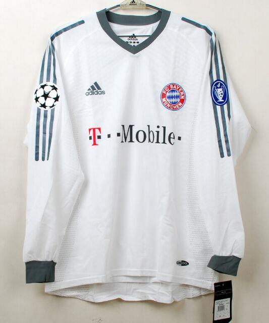 2002-03 Bayern Munich Away L/s No. 13 Ballack Player Issue Champions 02-03 Jersey