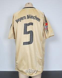2004-05 Bayern Munich Match Issue Away Shirt Adidas Soccer jersey #5