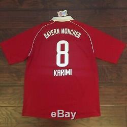 2005/06 Bayern Munich Home Jersey #8 Ali Karimi XL Adidas Iran Soccer Shirt NEW