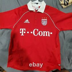 2005 2006 Adidas BAYERN MUNICH CLAUDIO PIZARRO Kids L Soccer Jersey Trikot Peru
