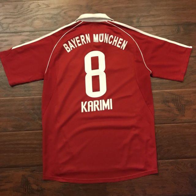 2006/07 Bayern Munich Home Jersey #8 Ali Karimi Medium Adidas Iran Soccer Used