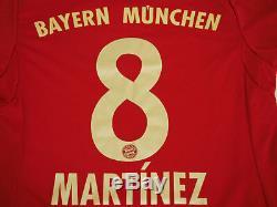 2012-2013 Bayern München Munchen Munich Jersey Shirt Trikot Adidas Martinez #8 S