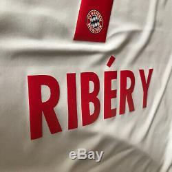2015/16 Bayern Munich Away Jersey #7 Ribery Medium Adidas Soccer Football NEW