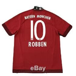 2015/16 Bayern Munich Home Jersey #10 Robben Large Adidas Soccer Football NEW