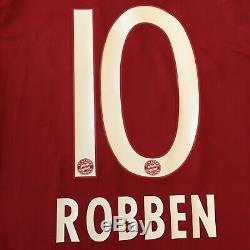 2015/16 Bayern Munich Home Jersey #10 Robben Medium Adidas Soccer Football NEW