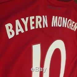 2015/16 Bayern Munich Home Jersey #10 Robben Small Adidas Soccer Football NEW