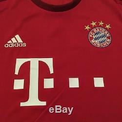 2015/16 Bayern Munich Home Jersey #10 Robben XL Long Sleeve Holland Soccer NEW