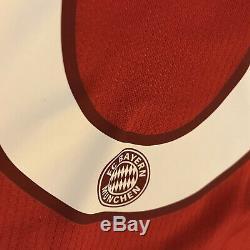 2015/16 Bayern Munich Home Jersey #6 Thiago Alcantra 3XL Adidas Long Sleeve NEW
