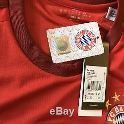 2015/16 Bayern Munich Home Jersey #9 LEWANDOWSKI 2XL Adidas Long Sleeve NEW