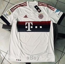 2015/2016 Adidas FC Bayern Munich Away Götze 19 Soccer Jersey Large AH4790