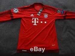 2015-2016 Bayern Munich Jersey. Long sleevs. # 9 Lewandowski XL