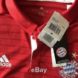 2016/17 Bayern Munich Home Jersey #10 Robben Medium Adidas Soccer Football NEW