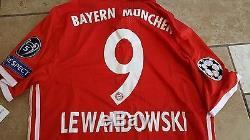 2016-17 Bayern Munich Home Jersey Adizero Champions League Edition Lewandowski 9