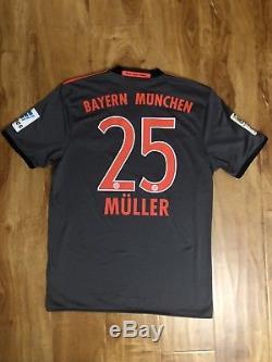 timeless design c22fa a31f4 2016/17 Fc Bayern Munich Thomas Muller Adidas Away Jersey
