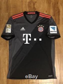 e647f9dc2d1 2016/17 Fc Bayern Munich Thomas Muller Adidas Away Jersey