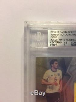 2016-17 Spectra #JA-MH Mats Hummels Jersey Auto Gold 1/1 Bayern Munich Germany