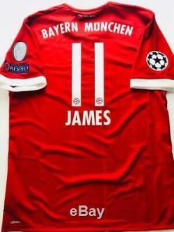 2017/18 Adidas adizero FC Bayern München James Rodriguez Home Jersey AZ7960 UCL
