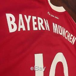 2017/18 Bayern Munich Home Jersey #10 Robben Large Adidas Soccer Netherlands NEW