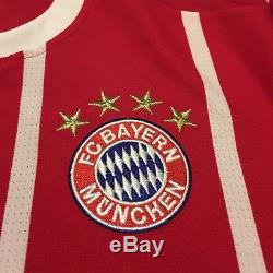 2017/18 Bayern Munich Home Jersey #11 JAMES Rodriguez Medium Soccer Colombia NEW