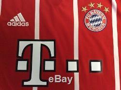 2017-2018 Adidas Bayern Munich Home Footbal/Soccer Vidal 23 Jersey MED NWT