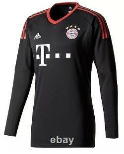 2017-2018 Bayern Munich Home Adidas Goalkeeper Shirt (AZ7947)