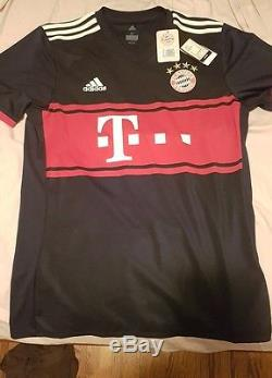 2017-2018 FC Bayern Munich Munchen Adidas Away Jersey Trikot Shirt BNWT