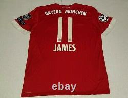 2017 FC Bayern Munich ADIDAS LARGE JAMES RODRIGUEZ 11 JERSEY M L XL COLOMBIA