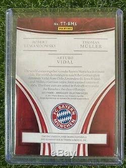 2017 Immaculate Bayern Munich Triple Patch Memorabilia Jersey Lewandowski /25