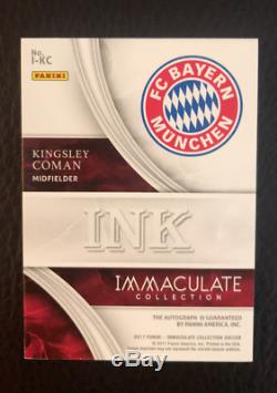 2017 Panini Immaculate Kingsley Coman Acetate Ink Rookie Auto # 29 /65 Jersey #
