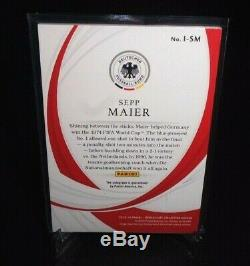 2018-19 Panini Immaculate Ink Sepp Maier Auto 2/5 Germany Soccer Card Goat Wc