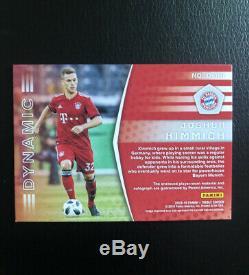 2018-19 Panini Treble Soccer Jersey Auto Card Joshua Kimmich #05/25 Bayern