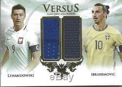 2018 Futera Robert Lewandowski Zlatan Ibrahimovic Versus Game Used Jersey /35