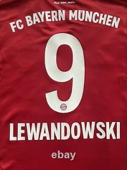 2019/20 Bayern Munich Home Jersey #9 Lewandowski 3XL Adidas Soccer Football NEW
