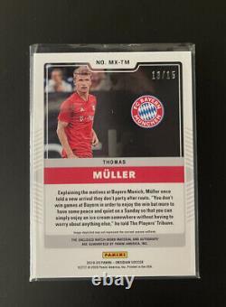 2019-20 Obsidian Matrix Thomas Muller Jersey Auto Bayern Munich 13/15