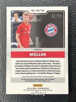 2019-20 Panini Obsidian Thomas Muller Matrix AUTO Jersey SSP Bayern #ed 12/22