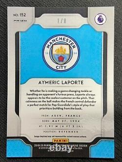 2019-20panini Prizm Epl Aymeric Laporte Rc Blue Shimmer 1/8 Team Color Man City