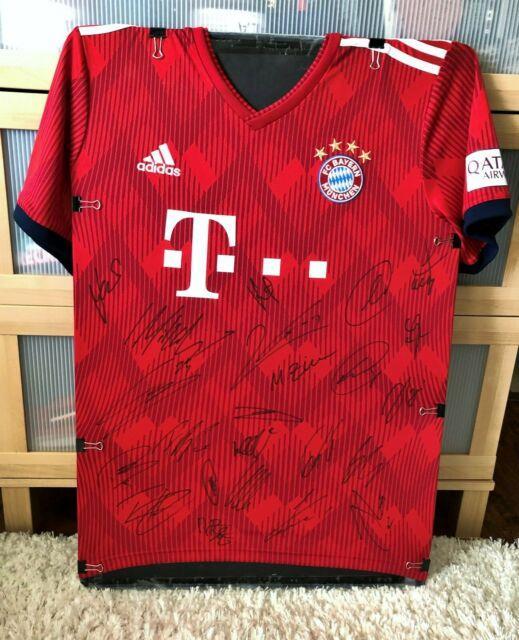 2019 Bayern Munich Usa Summer Tour Team Sign Soccer Jersey Withproof Neuer Mueller