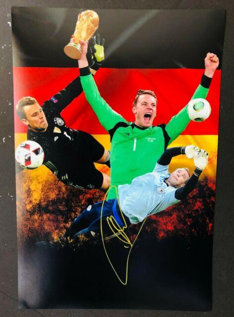 2019 Germany National Team Bayern Munich Manuel Neuer Sign 12x18 Collage Withproof